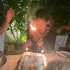 'That's hot': Nicole Richie's hair catches fire as she blows out candles during 40th birthday party