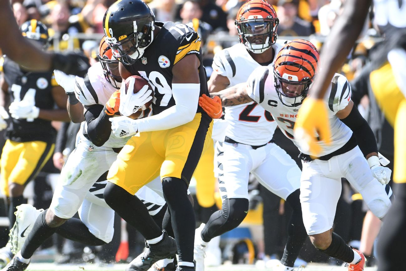 Steelers' Smith-Schuster leaves loss with injury