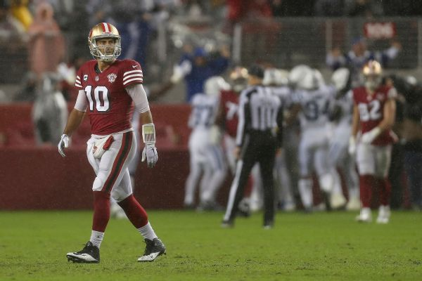 Shanahan on sticking with Garoppolo: I'd guess so