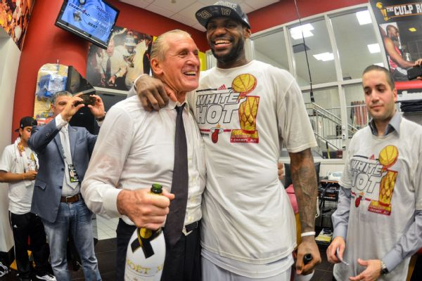 Riley fined for tampering over LeBron comments