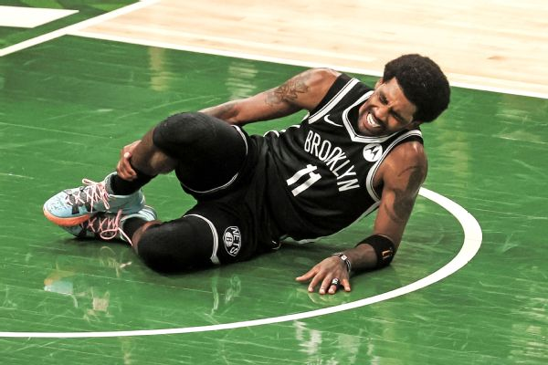 Nets' Irving leaves Game 4 with ankle injury