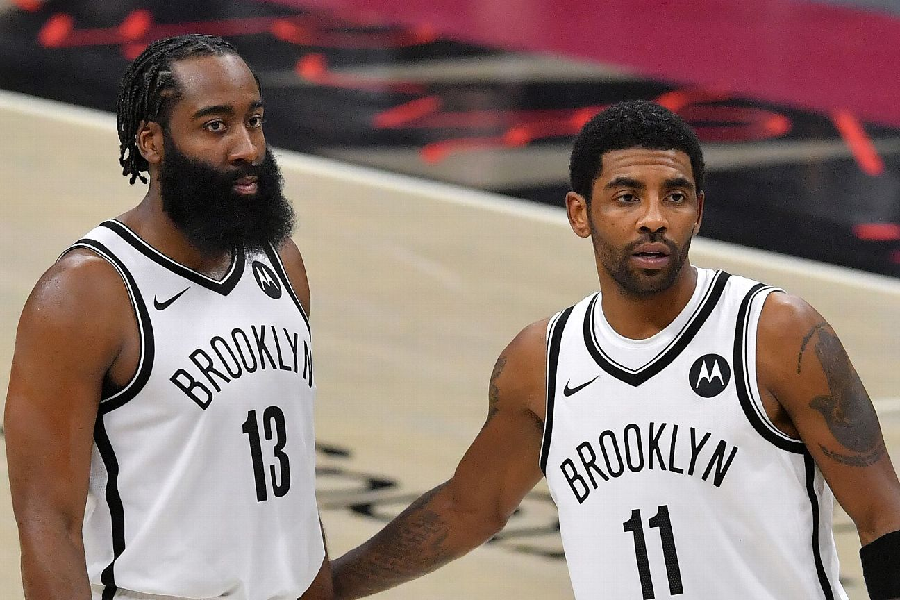Nets' Irving out, Harden available for Game 6