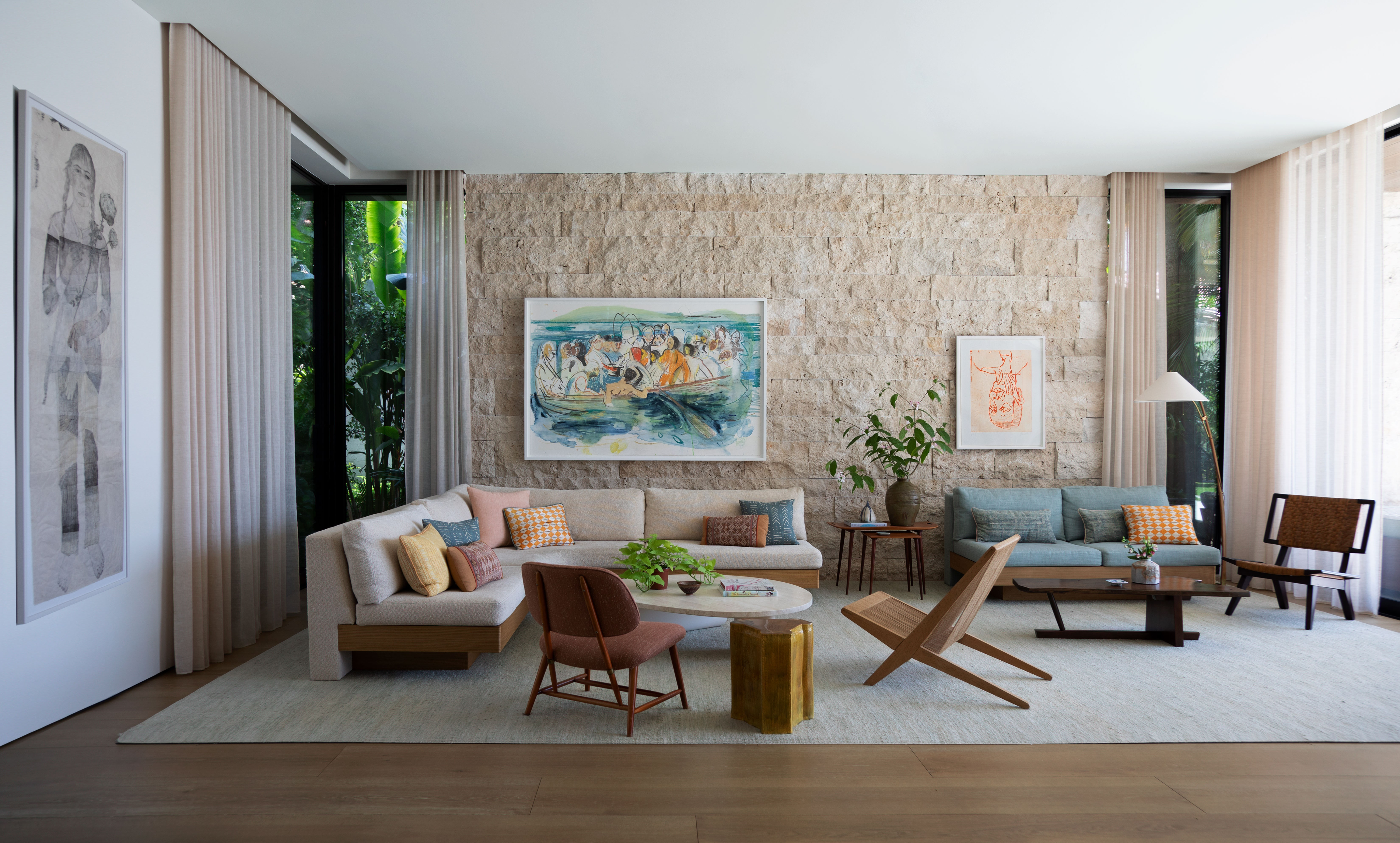 Step Inside a Peaceful Yet Vibrant Miami Home That Was Built Entirely From Scratch