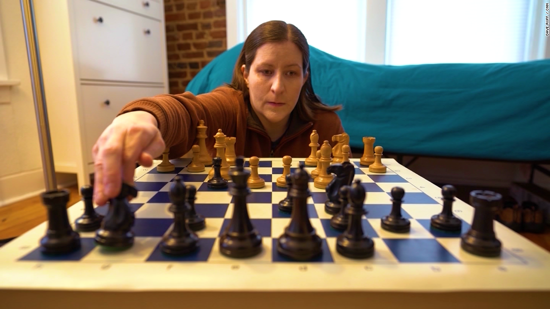 This woman is a chess champion. And she's blind